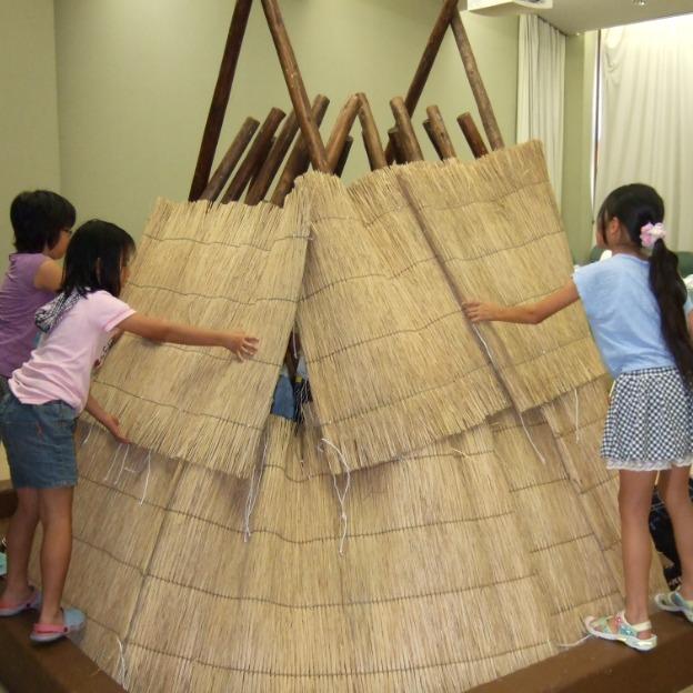 竪穴住居模型づくり
